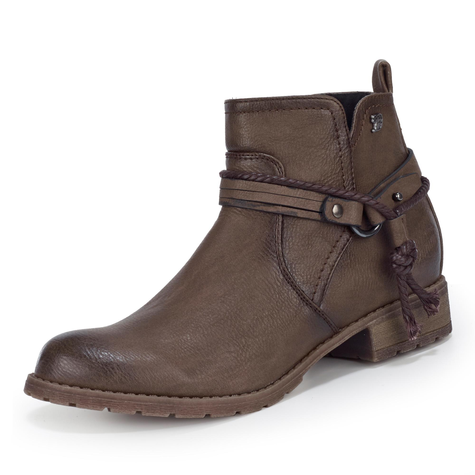 Tom Tailor Stiefelette - taupe | Markenschuhe