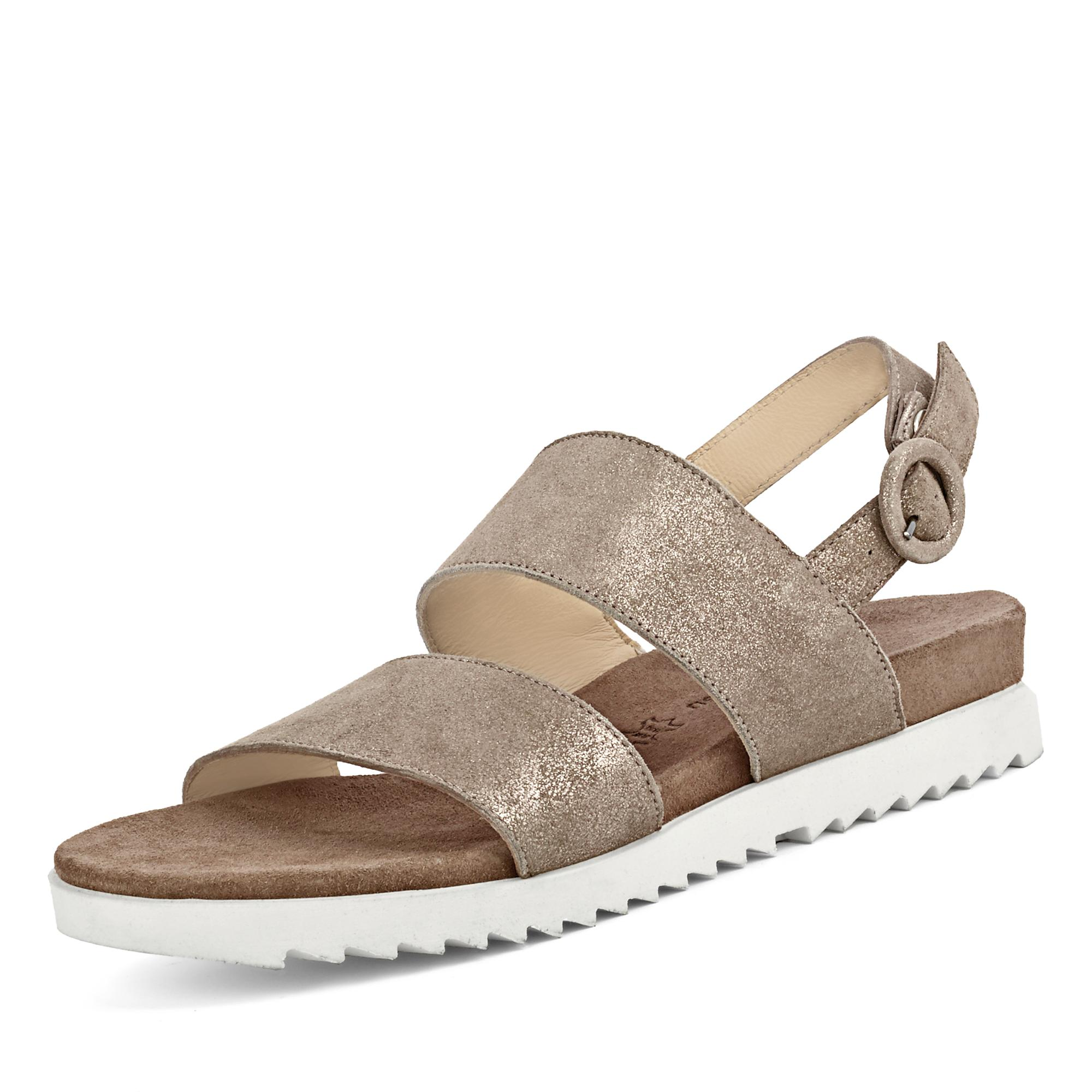 Paul Green Sandale - beige metallic | Markenschuhe