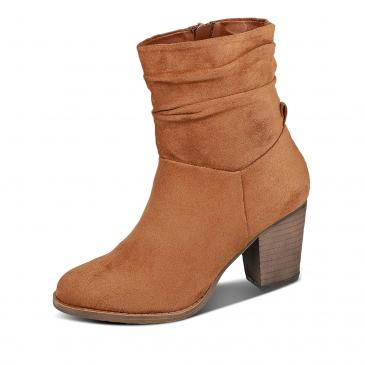Shoecolate Stiefelette - cognac