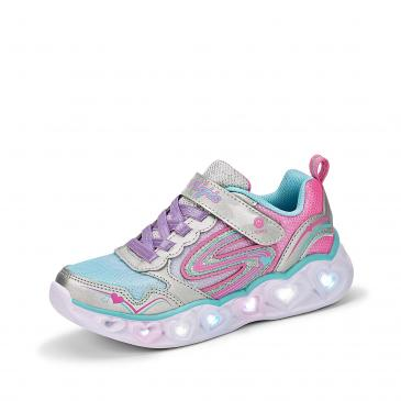Skechers Hearts Lights Sneaker - silber/hellblau