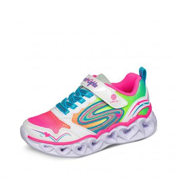 Skechers Heart Lights Sneaker - weiß/neonpink