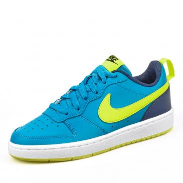 Nike Court Borough 2 Sneaker - blau/neongelb