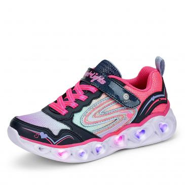 Skechers Heart Lights Sneaker - marine/pink