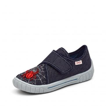 Superfit Bill Hausschuh - denim/rot