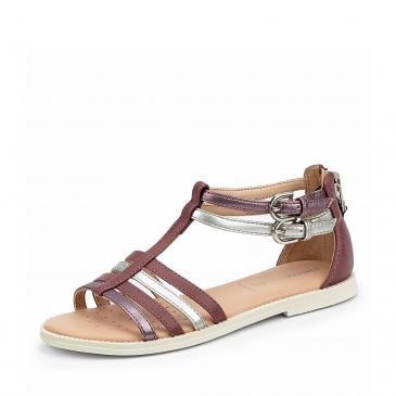 Geox Sandale - bordeaux/metallic