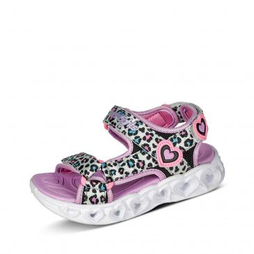 Skechers Heart Lights Sandale - flieder/bunt