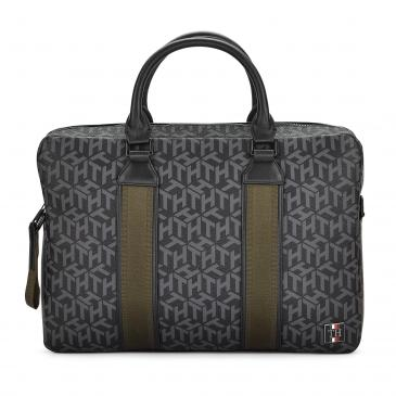 Tommy Hilfiger Coated Canvas Slim Computer Bag Businesstasche - schwarz