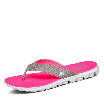 Skechers On The Go Pantolette - grau/pink