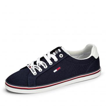 Tommy Jeans Essential Lace Up Sneaker - blau