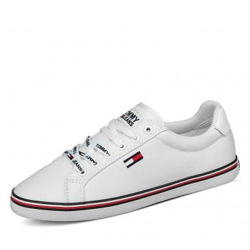 Tommy Jeans Essential Lace Up Sneaker - weiß