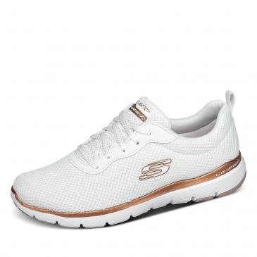 SKECHERS Flex Appeal 3.0 - First Insight Sneaker - weiß/rotgold