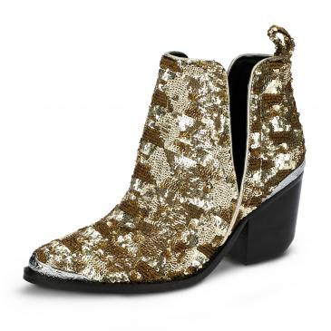 Jeffrey Campbell Stiefelette - gold