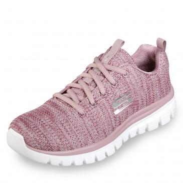 Skechers Graceful Twisted Fortune Sneaker - rosé