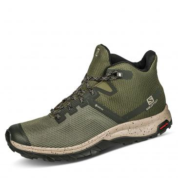 Salomon Outline Prism Mid GORE-TEX Outdoorschuh - khaki