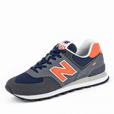New Balance 574 Sneaker - grau/orange
