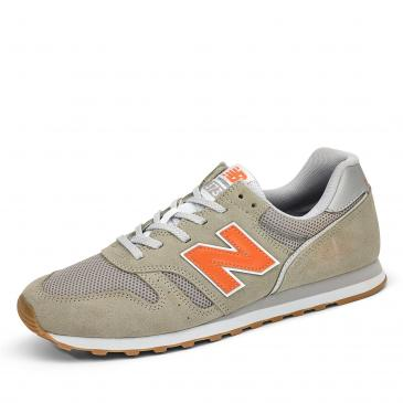 New Balance 373 Sneaker - grau/orange