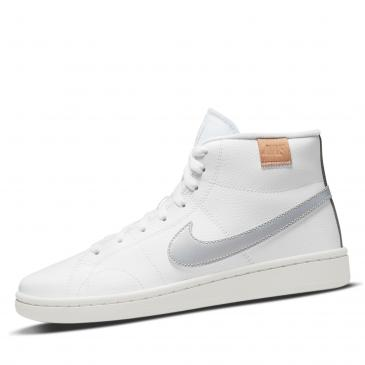 NIKE Court Royale 2 Mid Sneaker - weiß/silber