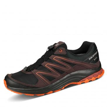 Salomon Sollia GORE-TEX Outdoorschuh - schwarz/dunkelrot/orange