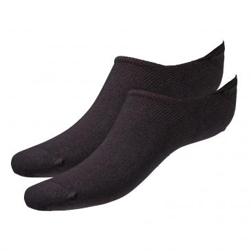 Camano Invisible Sneakersocken 2er Pack - 2x schwarz