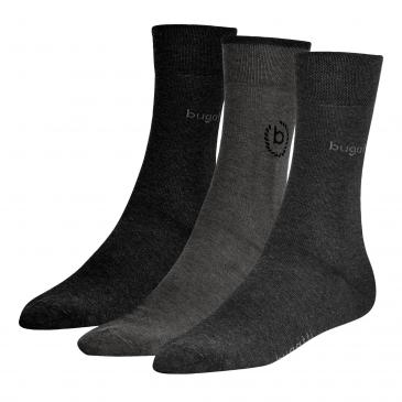 Bugatti ICON Socken 3er Pack Box - 1x grau, 1x anthrazit, 1x schwarz