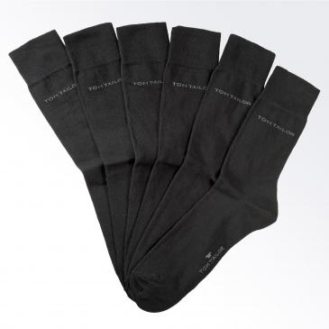 Tom Tailor Socken 6er Pack - 6x schwarz