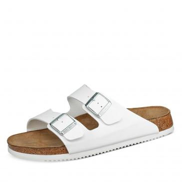 Birkenstock Arizona Pantolette - normal - weiß
